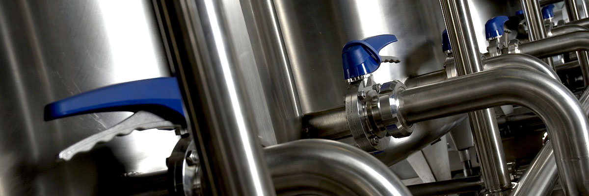 Process valves and stainless steel tanks
