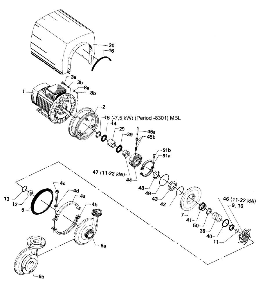 Tetra Pak ALC2 flushed shaft seal pump schematic