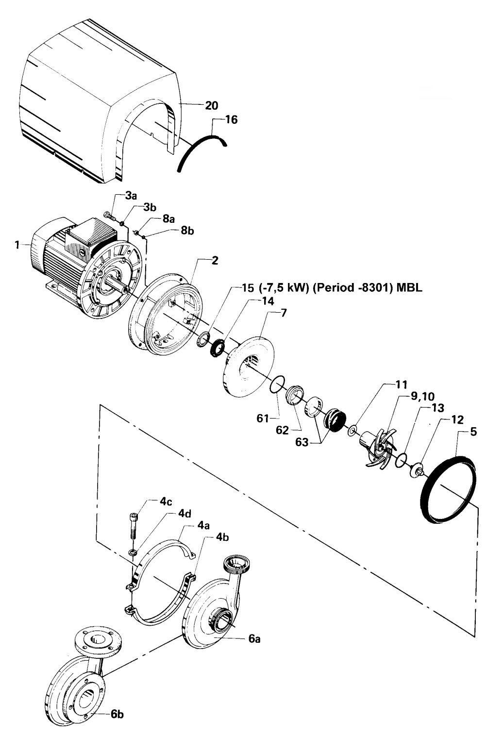 Tetra Pak ALC3 single shaft seal pump schematic