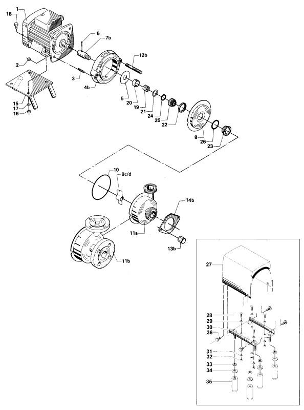 Alfa Laval GM-A Centrifugal Pump Diagram