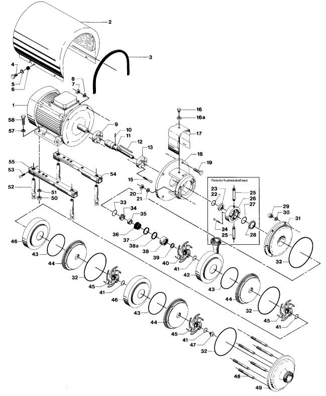 Alfa Laval LKH-114 Multi-Stage Single Flushed Shaft Seal Centrifugal Pump