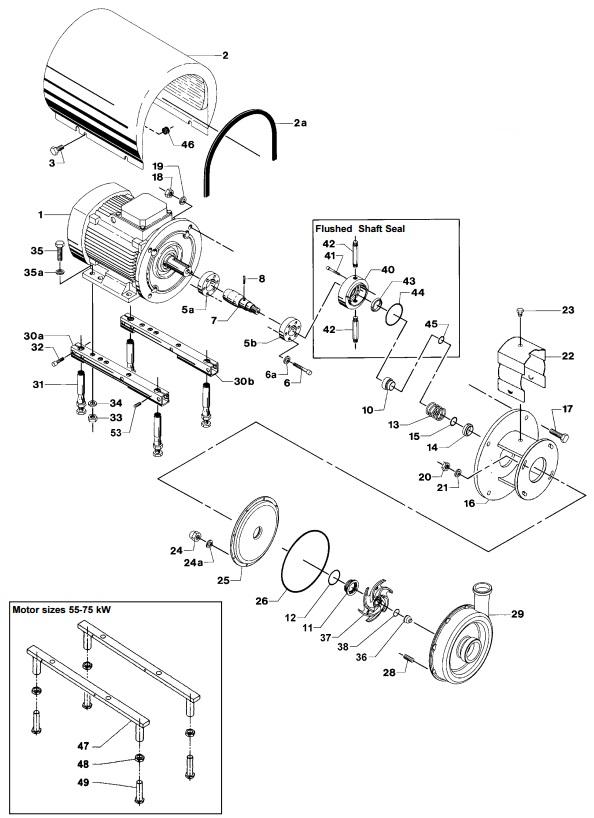 Alfa Laval LKH-80 Centrifugal Pump Diagram Shaft Seal