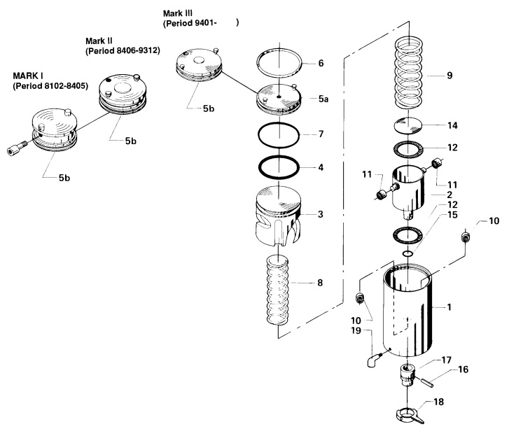 Alfa Laval LKLA Actuator Air/Spring Diagram
