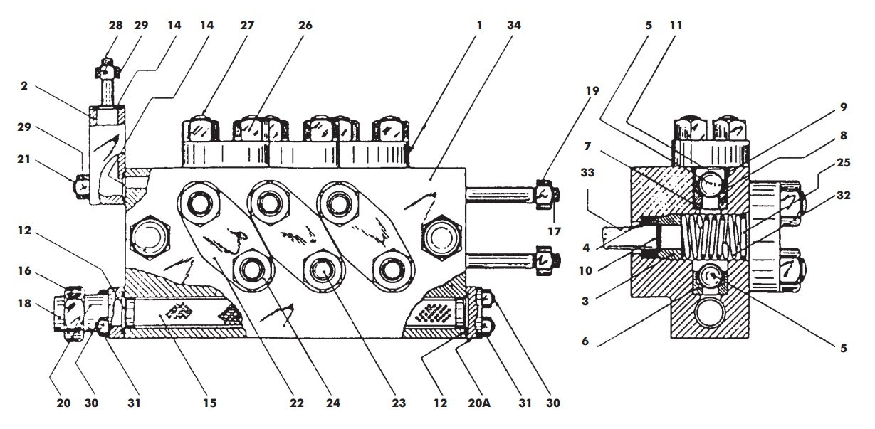 APV / SPX Flow Gaulin K Series Homogeniser Diagram Cylinder Block 2