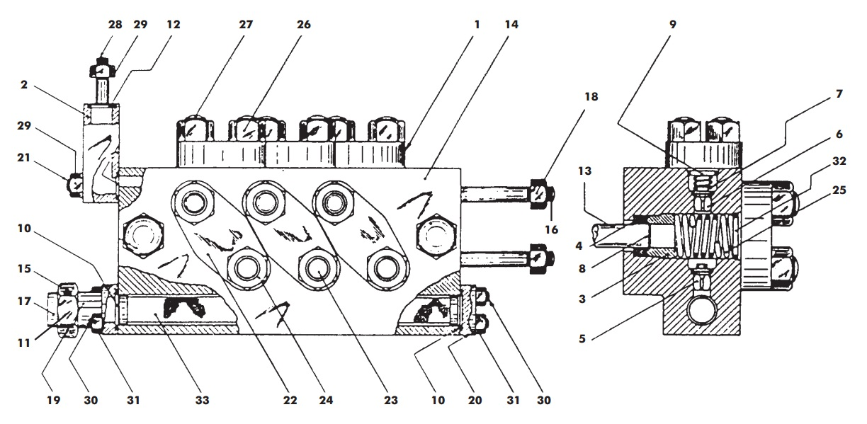 APV / SPX Flow Gaulin K Series Homogeniser Diagram Cylinder Block